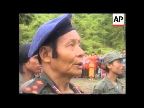 THAI/MYANMAR BORDER: KNU REBELS MARK DEATH OF SAWBA AUU KYI