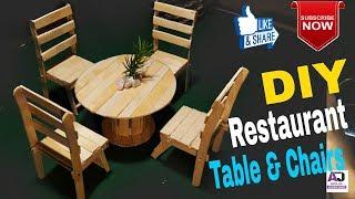 Comment faire de restaurant table et des chaises pliantes | Aj papier et de l'artisanat en bois