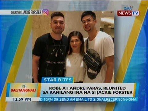 Kobe at Andre Paras, reunited sa kanilang ina na si Jackie Forster