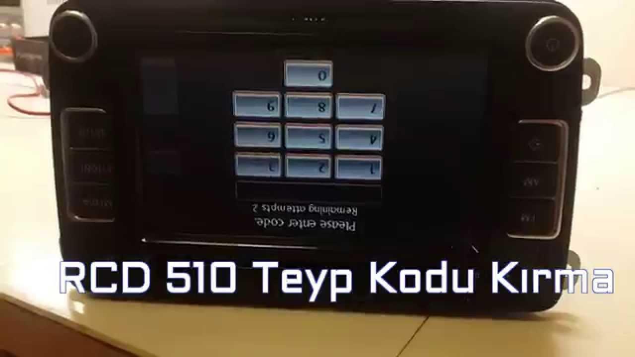 volkswagen rcd 510 teyp kodu kırma - youtube