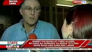 Manny Pacquiao at Chris Algieri, relaxed na humarap sa media tatlong araw bago ang kanilang laban