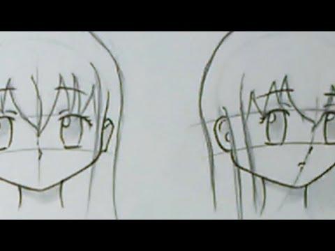 Как нарисовать волосы аниме девушки