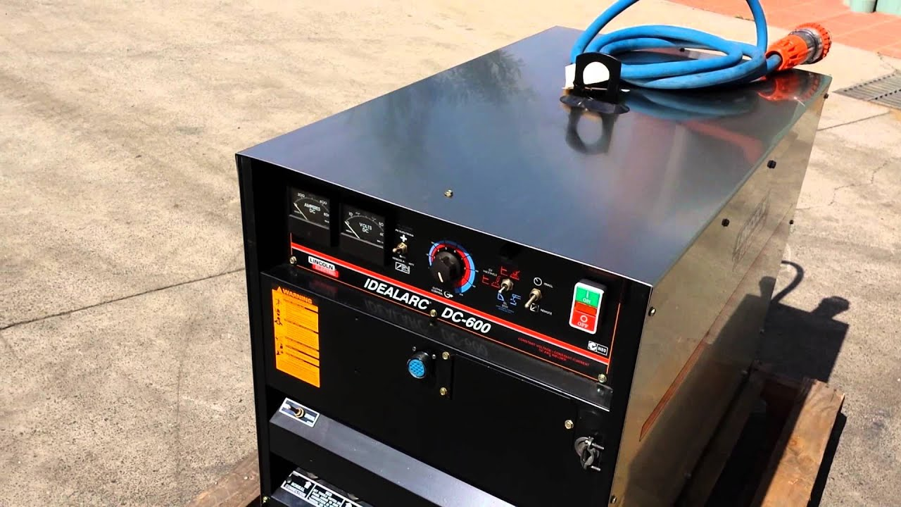Mig Tig Stick Welder >> Used: Lincoln Ideal Arc DC600 - YouTube
