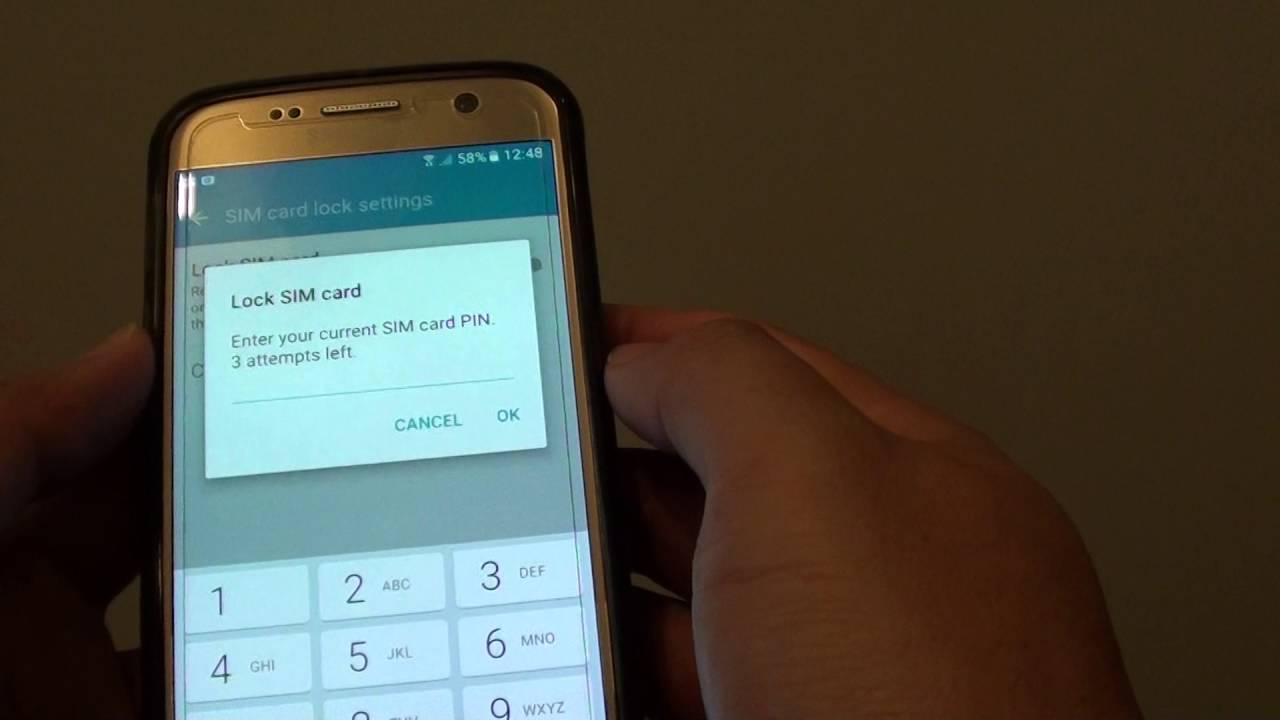 Samsung Galaxy S7: How to Enable / Diasble Lock SIM Card PIN