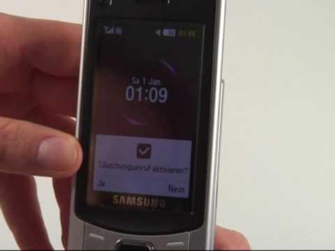 Samsung S7350 Ultra S Test Bedienung