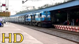 The Fury Of Twin Diesel Locomotives: 18207 DURG AJMER EXPRESS