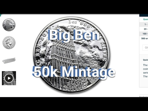 New 1 oz. Silver Big Ben Coin by The Royal Mint - Limited 50k Mintage!