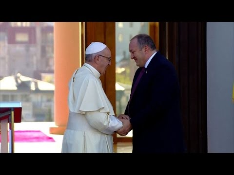 Pope Francis talks of 'peaceful coexistence; in Caucasus region