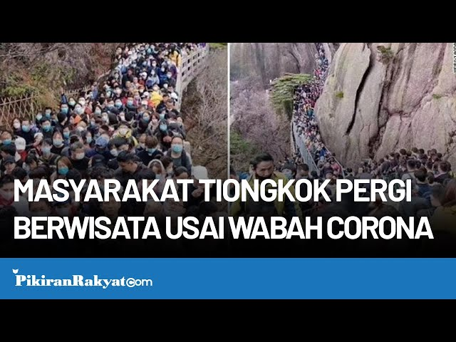 Masyarakat Tiongkok Pergi Berwisata Usai Wabah Corona