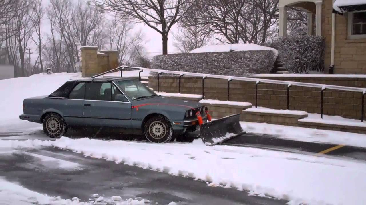 bmw as a snow plow no way youtube. Black Bedroom Furniture Sets. Home Design Ideas