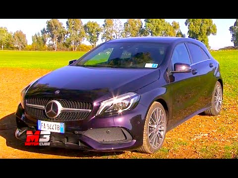 new mercedes classe a 200 d 2016 first test drive eng ita sub youtube. Black Bedroom Furniture Sets. Home Design Ideas