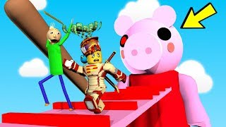 ESCAPE GIANT PIGGY OBBY!!   The Weird Side of Roblox