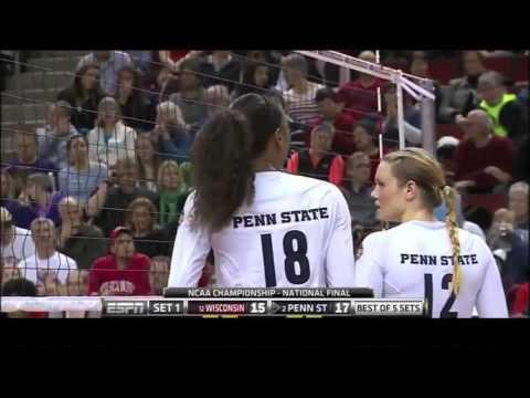 Penn State vs Wisconsin NCAA Volleyball 2013 [Set 1]