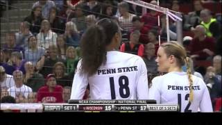 Penn State vs Wisconsin NCAA Volleyball 2013 [Set 1]