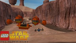 LEGO Star Wars: The Video Game - Mos Espa Pod Race | Part 4, PS2 (LEGO Star Wars Walklthrough)