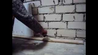Крепление гипсокартона в т.ч. на очень неровные стены.Часть 1.