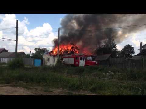 Пожар на улице Пушкина в Орле 25.06.2013