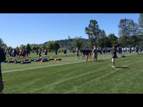 Vernon Adams goes through running drills at Seattle Seahawks rookie mini-camp