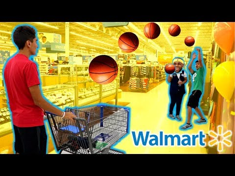 BASKETBALL WITH STRANGERS IN WALMART!