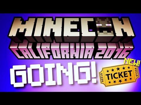 ✔️MINECON 2016 - I'M GOING!! // Minecon 2016 coming SOON in California! [MCPE YouTuber] Minecraft