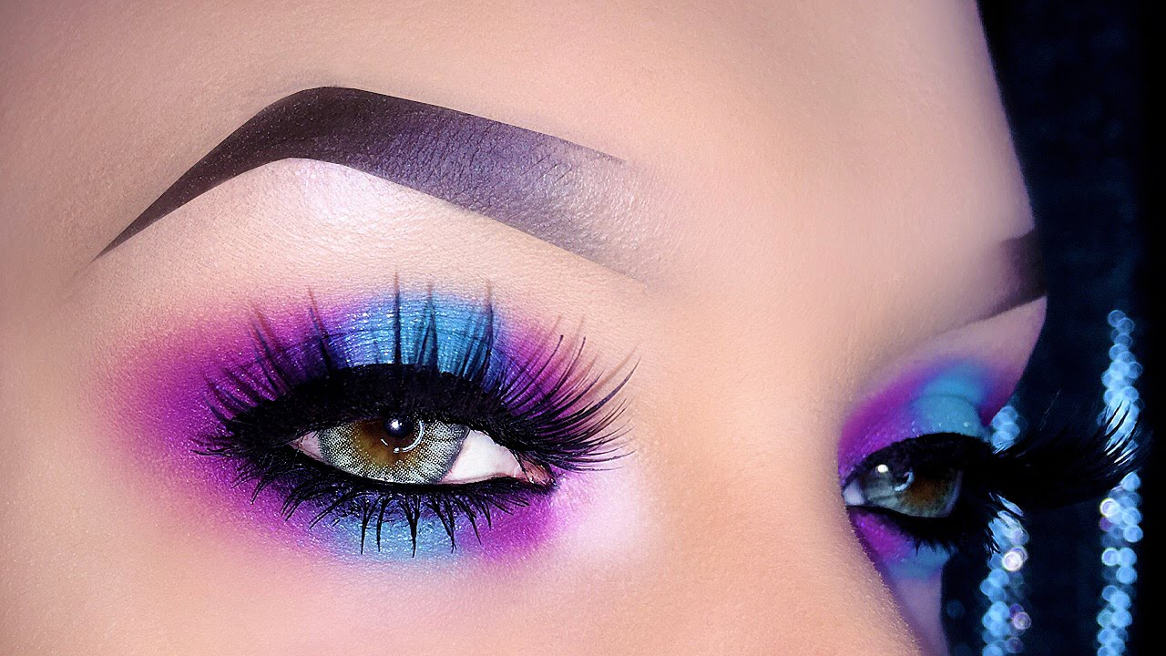 Fresh Bright Spring Smoky Colorful Neon Makeup Tutorial Youtube