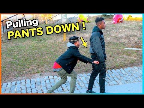 (Insane) PULLING STRANGER'S PANTS DOWN !!