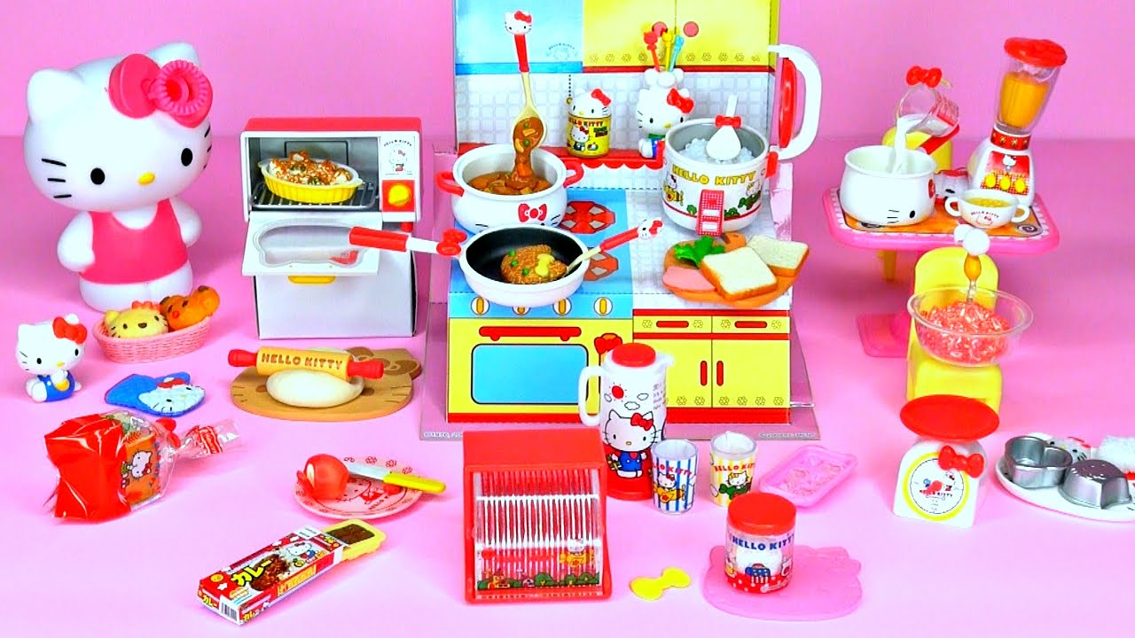 Sanrio X Re Ment Hello Kitty I Love Cooking Set Happy Kitchen