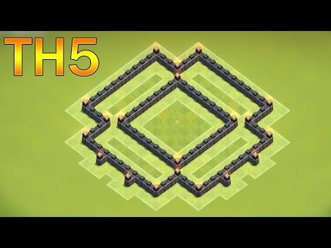 Town Hall 5 Defense (CoC TH5) BEST TH5 Hybrid Base Layout Defense Strategy 2016