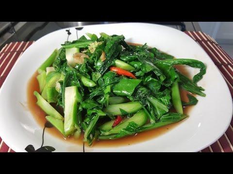 ผัดคะน้าน้ำมันหอย Stir Fried Kale with Oyster Sauce