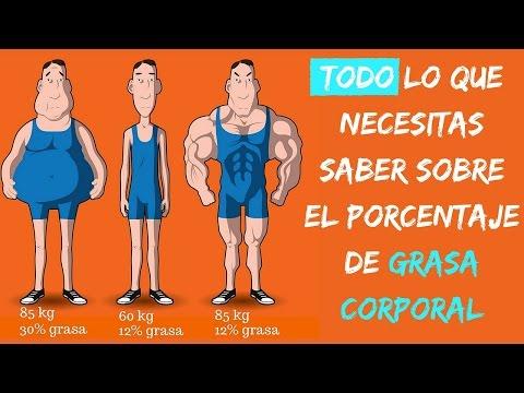 ejemplos de porcentaje de grasa corporal masculina