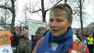 Mensen uit hele land protesteren tegen gaswinning