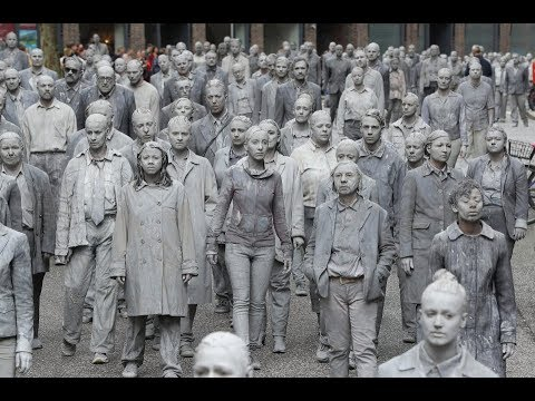 Zombies take over G20 summit in peaceful street art protest