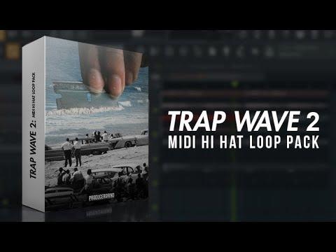 The Trap Wave 2 MIDI Hi Hat Pattern Pack MIDI Kit