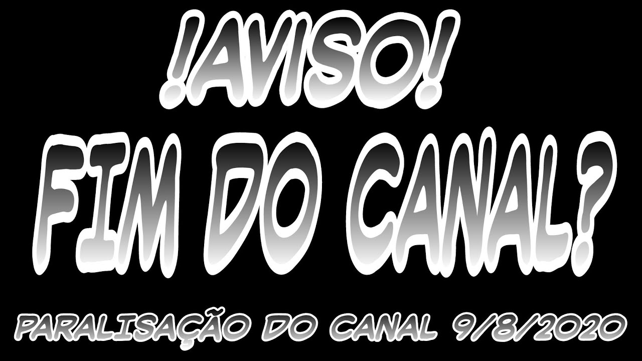AVISO SOBRE A SITUAÇÃO DO CANAL, SERA O FIM DO CANAL??😢😥😭🥺