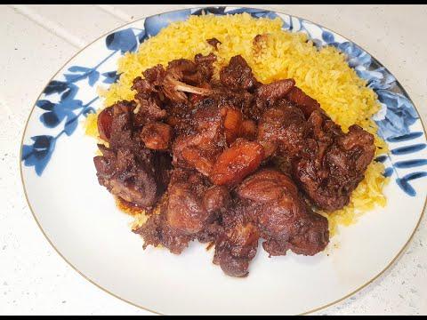Pumpkin Rice and Jamaican Brown Stew Chicken