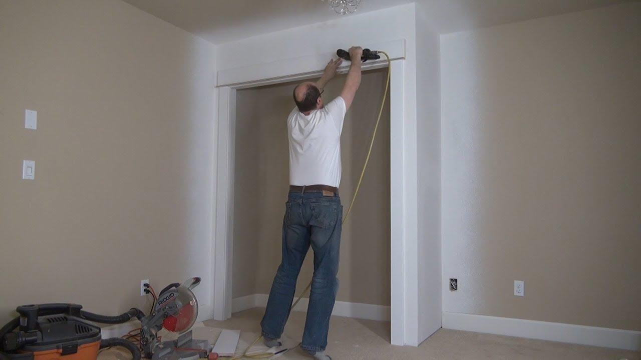 Download How to Build a Closet. Door Trim Installation. Part 4. Строим кладовку, Наличники  на двери