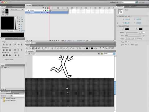 Animating a Running Character in Adobe Flash Frame by Frame with Onion Skins
