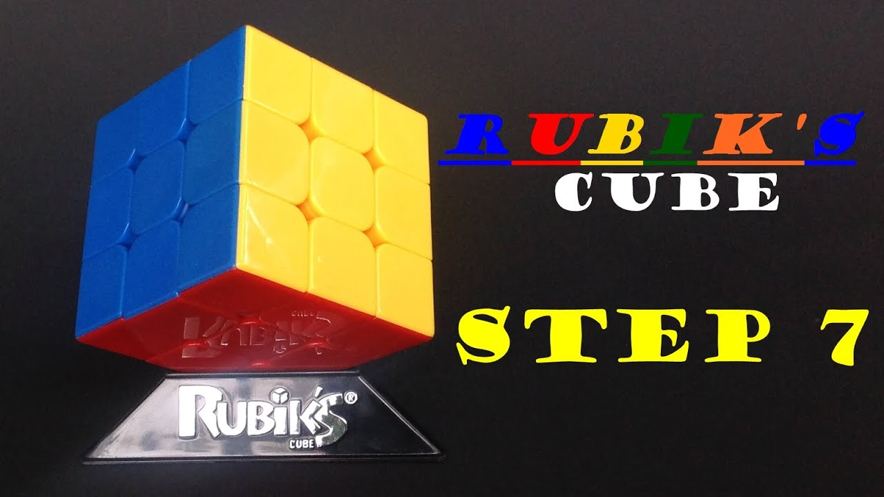 Easy Beginner Level Rubik's Cube Solution  Step 7 (solving Edge Pieces) How  To Step By Step
