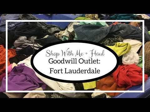 Shop With Me + Thrift Haul: Goodwill Outlet Fort Lauderdale