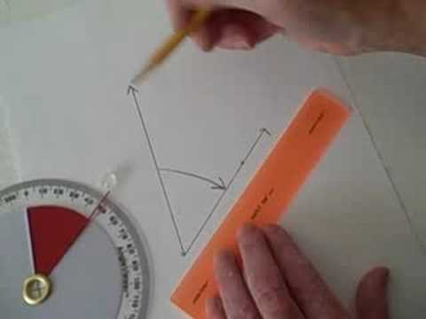 Use the 360 Degree visual protractor (AngleViewer) to draw an angle