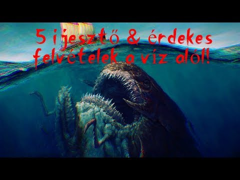 TOP5 | IJESZTŐ és ÉRDEKES FELVÉTELEK AZ ÓCEÁN MÉLYÉRŐL!!👾😨