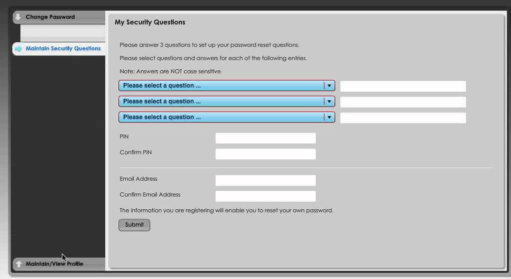 For Students - How to change your Ultranet password and secret questions flv