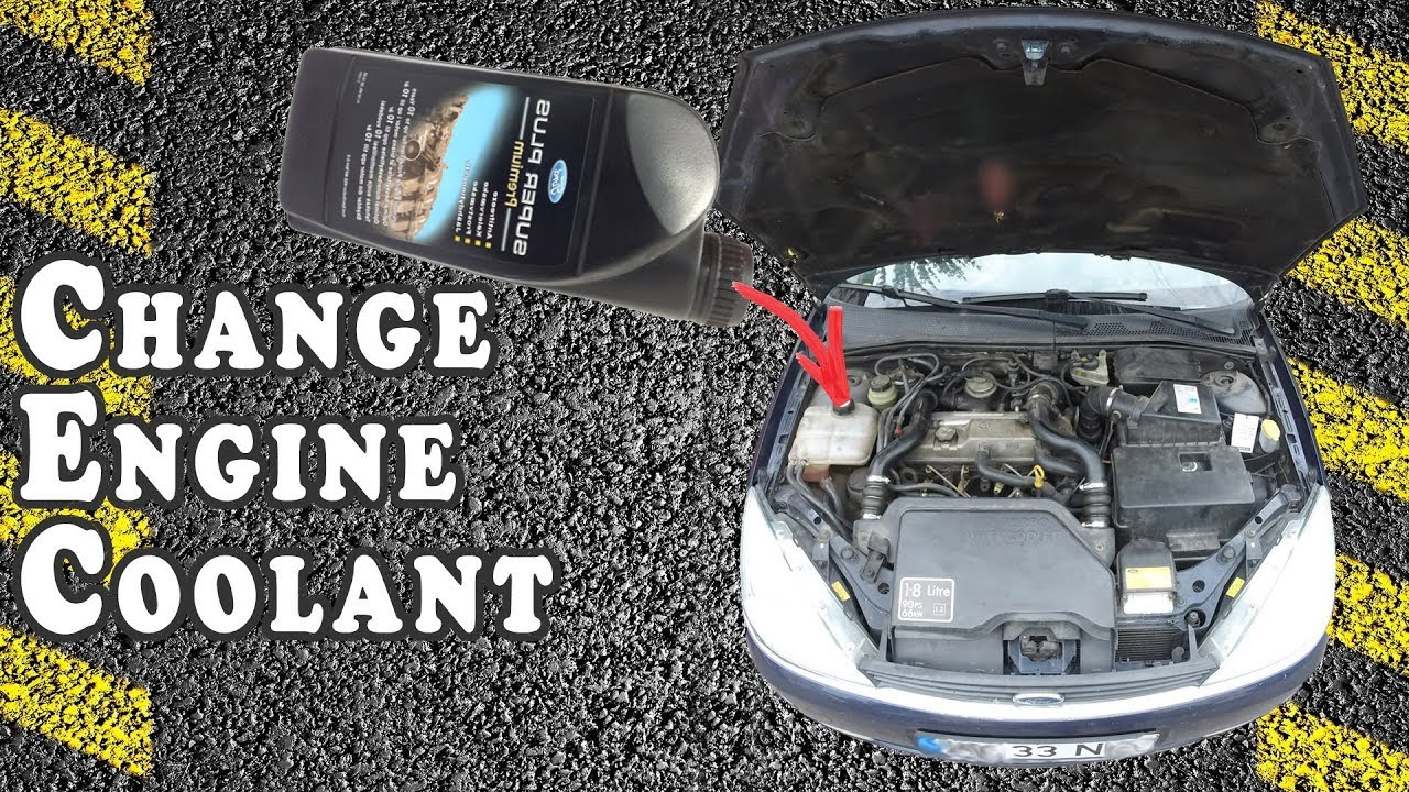 How To Change Engine Coolant 2001 Ford Focus Youtube