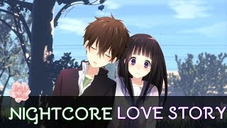 【Nightcore】 Love story {switching vocals) {lyrics} [request] Resimi