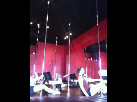Saturday morning chair/pole dance combo Aura Pole Dance Fitness