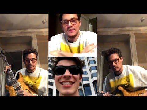John Mayer   Instagram Live Stream   3 December 2017 w/ Shawn Mendes