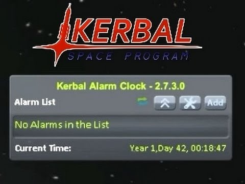 Kerbal Alarm Clock v2.7.3.0 Mod Spotlight