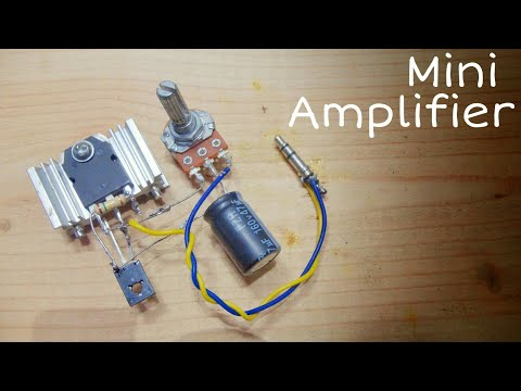 how to make audio amplifier using transistor