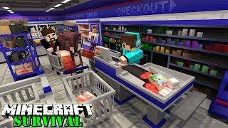 MEMBUAT SUPER MARKET MODERN UNTUK ISTRI ! Minecraft Survival #59
