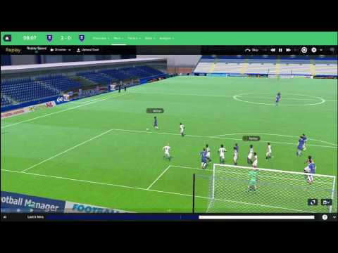 Football Manager 2017 3D MATCH ENGINE First Look - Football Manager 2017 Match Engine